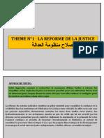 THEME N°1 LA REFORME DE LA JUSTICE