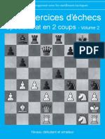 1000 Exercices d'Echecs Special Mat en 2 Coups Volume 2