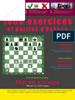 1000 Exercices Et Puzzles d'Echecs Mat en 1 2 3 Et 4 Coups