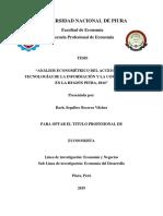Analisis Econometrico Del Acceso a Tic