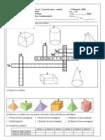 Revisão 1º avaliação 4º bimestre sólidos geométricos