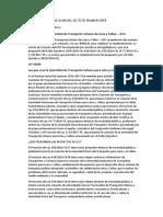 ANALISIS DE LA SITUACION DEL SECTOR TRANSPORTE