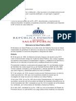 Salud publica (ministerio)