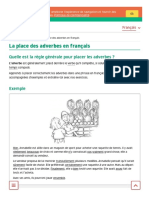 La place des adverbes en français