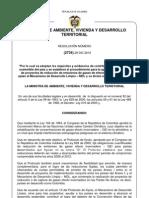 Resolución 2734 del 29 de diciembre de 2010 MAVDT