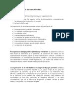 ORGANIZACIÓN DE LA DEFENSA INTEGRAL