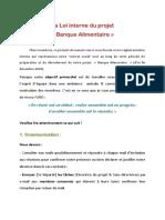 Loi interne du projet Banque Alimentaire 2020
