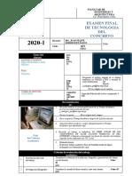 EXAMEN FINAL DE TECNOLOGIA CONCRETO