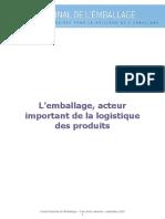 CP CNE L Emballage Acteur Important de La Logistique Des Produits