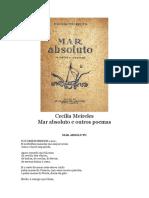 Cecilia Meireles - 1945 - Mar absoluto e outros poemas