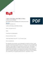 Carta notarial comercio