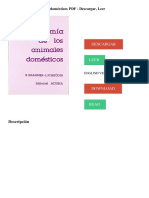 Anatomía de los animales domésticos PDF - Descargar, Leer DESCARGAR LEER ENGLISH VERSION DOWNLOAD READ. Descripción