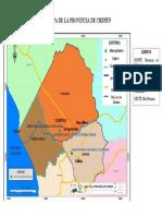 Mapa de la Provincia de Chepén