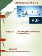 MODULE III - La normalisation comptable internationale