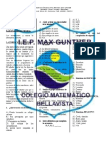 SIMULACRO ACADÉMICO 3, 4 primaria MAX GUNTHER