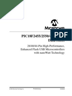 PIC18F4550 Datasheet | Usb | Microcontroller