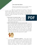 10 Dicas Para Aprender Inglês Mais Rápido