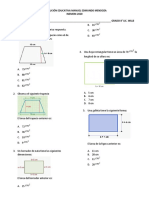 examen geometria grado 8 2020