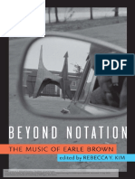 Beyond Notation The Music of Earle Brown