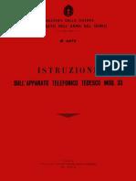Istruzione Telefono Tedesco Mod.33 (1942)