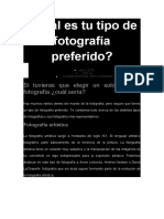 tipos de fotografia