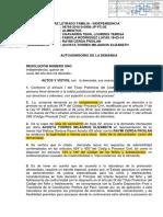 RESOLUCION DE ADMISION DE DEMANDA