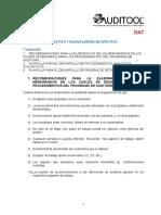 DA7 Instrucciones y Estructura Memorandos de Auditoria Efectivo