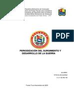 PERIODIZACION DE LA GUERRA