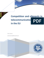 Competition and oligopoly in telecommunications industry in the EU