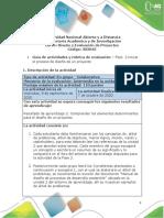 evaluacion de proyecto ambiental