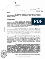 Decreto Provincial N° 1497