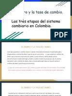El Dinero y La Tasa de Cambio-Las Tres Etapas Del Sistema Cambiario en Colombia