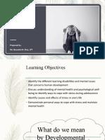 Lesson 3 Developmental Issues