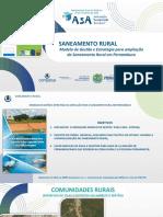 Modelo de gestão e estrategia para sanemaneto rural em PE- apresentação encontro ASA, 05novembro2020