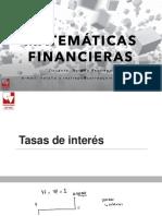 7. Matemáticas financieras- Tasas de Interés