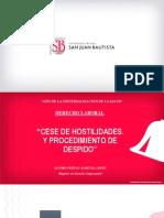 CESE DE HOSTILIDADES Y PROCEDIMIENTO DE DESPIDO - Clase 10