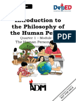 intro to philosophy of human person 1st quarter module 4