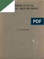 Buddhism in Ceylon Under the Christian Powers