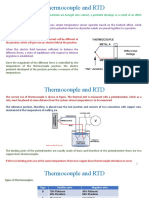 Thermocouple and RTD