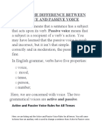 active and passive voice difference