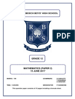 RBHS Gr 12 June P2 2017