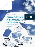 Ontology-and-Phenomenology-of-Speech-An-Existential-Theory-of-Speech