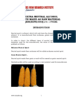 PROJECT REPORT ON EXTRA NEUTRAL ALCOHOL WITH MAIZE AS RAW MATERIAL