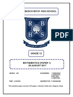 RBHS G12RBHSMockP12017