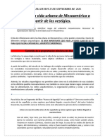 VIERNES 25 DE SEPT- VESTIGIOS DE MESOAMERICA