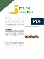 5 tarian kreasi