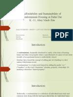 Affordability and Sustainability of Condominium Housing in Bahir Dar.pptx