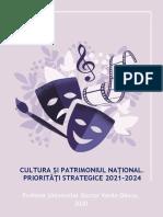 CULTURA SI PATRIMONIUL NATIONAL_PRIORITATI STRATEGICE_2021-2024