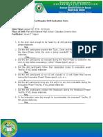 NSED Evaluation Form 3rd quarter- MNHS ALION