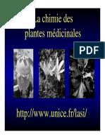 La chimie des plantes médicinales